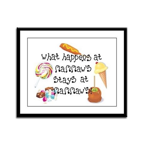 What Happens at Mammaw's... Framed Panel Print