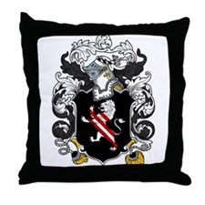Holmes Family Crest Throw Pillow