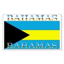 Bahamas Bahama Flag Rectangle Decal