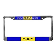 Barbados Flag License Plate Frame
