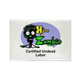 Zombie Undead Labor Rectangle Magnet
