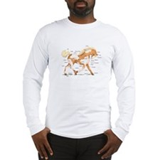 Palomino Overo Anatomy Chart Long Sleeve T-Shirt