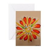 Hot pepper Daisy Greeting Card
