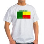 Benin Flag Ash Grey T-Shirt