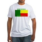 Benin Flag Fitted T-Shirt