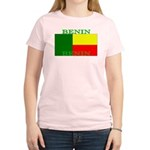 Benin Flag Women's Pink T-Shirt