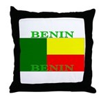 Benin Flag Throw Pillow