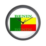Benin Flag Wall Clock