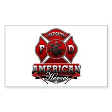 American Heroes Rectangle Stickers