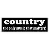 Country Music Bumper Bumper Sticker