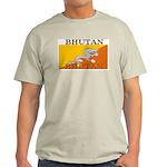 Bhutan Flag Ash Grey T-Shirt