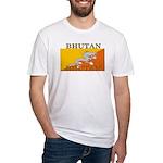 Bhutan Flag Fitted T-Shirt