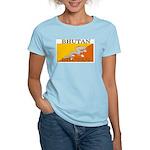 Bhutan Flag Women's Pink T-Shirt