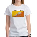 Bhutan Flag Women's T-Shirt