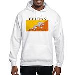 Bhutan Flag Hooded Sweatshirt