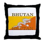 Bhutan Flag Throw Pillow