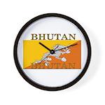 Bhutan Flag Wall Clock