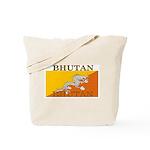 Bhutan Flag Tote Bag