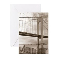 Bay Ridge Verrazano Bridge Greeting Cards (Package