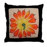 Hot Pepper Sunflower Throw Pillow
