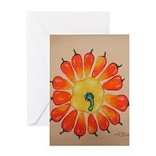 Hot Pepper Sunflower Greeting Card