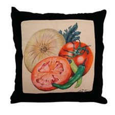 Itallian Veggies Throw Pillow