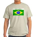 Brazil Brazilian Flag Ash Grey T-Shirt