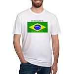 Brazil Brazilian Flag Fitted T-Shirt