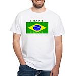 Brazil Brazilian Flag White T-Shirt