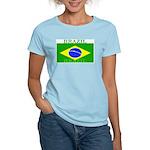 Brazil Brazilian Flag Women's Pink T-Shirt