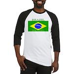 Brazil Brazilian Flag Baseball Jersey