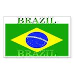 Brazil Brazilian Flag Rectangle Sticker