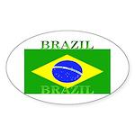 Brazil Brazilian Flag Oval Sticker