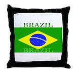 Brazil Brazilian Flag Throw Pillow
