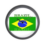 Brazil Brazilian Flag Wall Clock