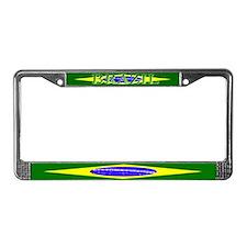 Brazil Brazilian Flag License Plate Frame