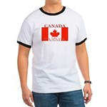 Canada Canadian Flag Ringer T