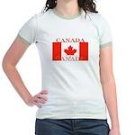 Canada Canadian Flag Jr. Ringer T-Shirt
