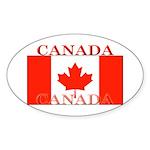 Canada Canadian Flag Oval Sticker