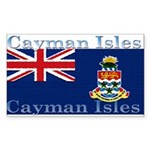 Cayman Islands Rectangle Sticker