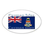 Cayman Islands Oval Sticker