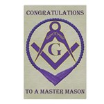 Masonic Congratulations Postcards (Package of 8)
