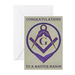 Masonic Congratulations Greeting Cards (Pk of 10)
