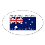 Cocos Islands Oval Sticker