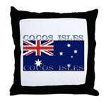 Cocos Islands Throw Pillow