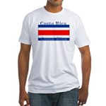 Costa Rica Costa Rican Flag Fitted T-Shirt