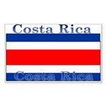 Costa Rica Costa Rican Flag Rectangle Sticker