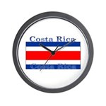 Costa Rica Costa Rican Flag Wall Clock