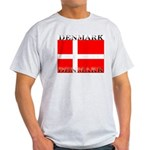 Denmark Danish Flag Ash Grey T-Shirt
