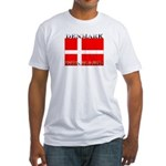 Denmark Danish Flag Fitted T-Shirt